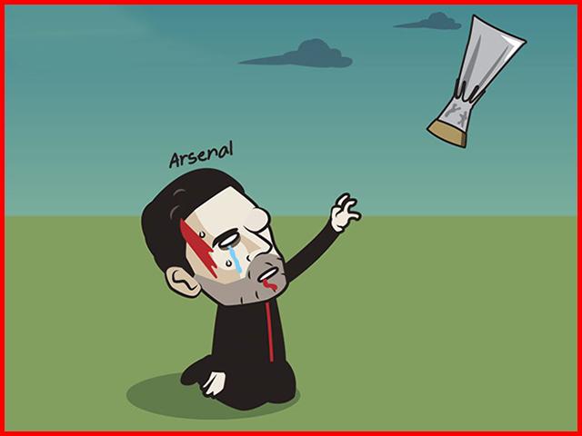 Arsenal bị loại khỏi cúp C2, dân mạng đua nhau chế ảnh chế giễu