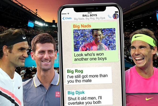 """Nadal - Federer - Djokovic có nhóm """"chat kín"""": """"Big Three"""" đã lộ bí mật - 1"""