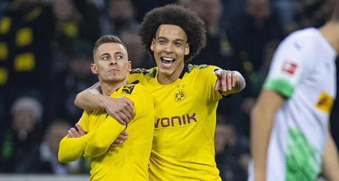 Video highlight trận Monchengladbach - Dortmund: Đột biến em trai Hazard - 1