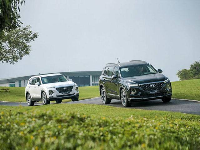Hyundai Santa Fe giảm giá 30 triệu đồng tại một số đại lý