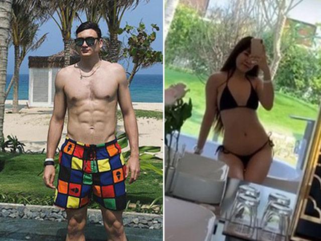 """Đi nghỉ dưỡng cùng một resorts, Văn Lâm và hot girl phòng gym khoe body """"nghẹt thở"""""""