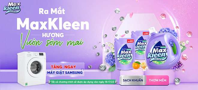 Mua nước giặt xả MaxKleen hôm nay rinh ngay cơ hội trúng máy giặt Samsung Inverter - 1
