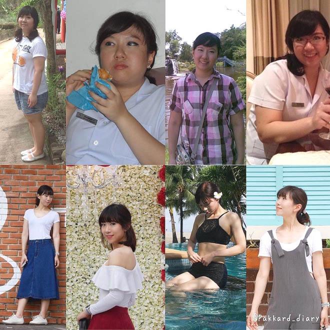 """Già và xấu vì béo, cô gái Thái Lan """"lột xác"""" không nhận ra sau giảm 27kg - 1"""