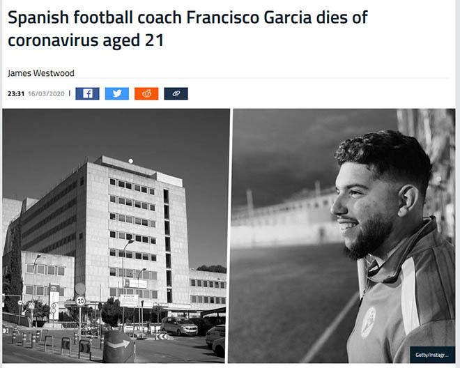 HLV bóng đá đầu tiên tử vong vì virus Corona tại TBN: Báo thế giới choáng váng - 1