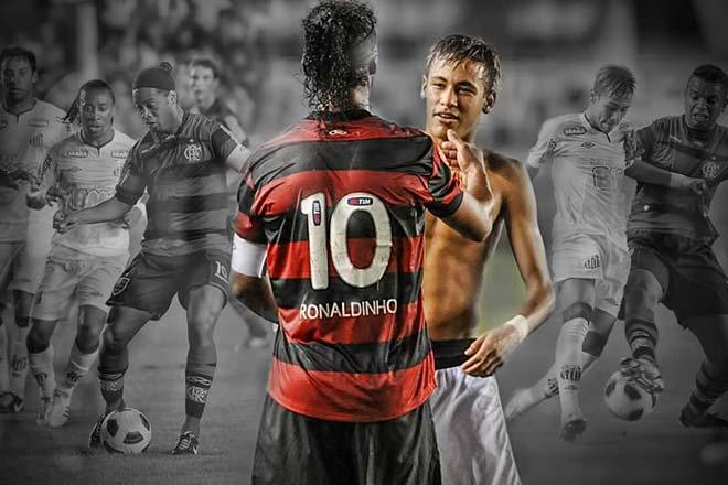 """Ronaldinho lập hat-trick, """"dạy dỗ"""" Neymar & trận hay nhất cuối sự nghiệp - 1"""