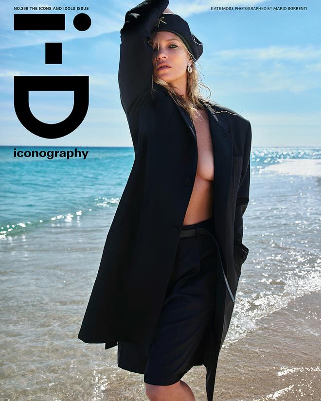 Siêu mẫu Kate Moss diện suit đen quyền lực - 1