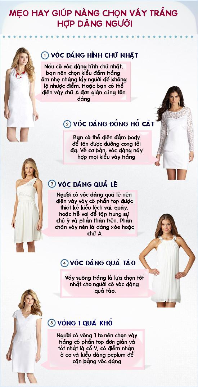 Bí kíp giúp nàng chọn váy trắng hợp dáng người, không lộ nhược điểm - 1