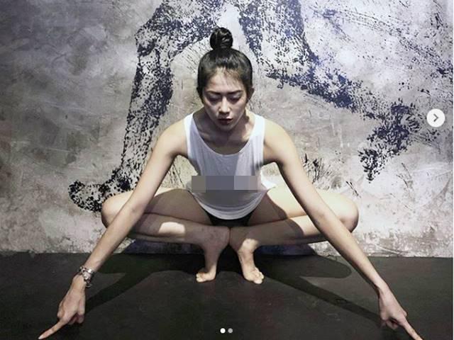 Không trang phục phòng hộ khi đi tập gym, cô gái Việt hot trên Instagram