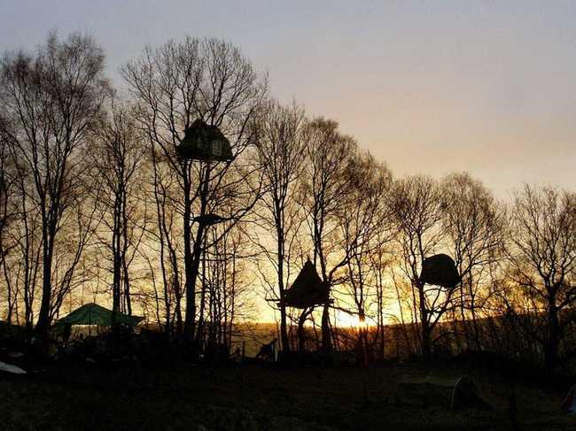 Ở miền Bắc nước Anh, những ngôi nhà trên cây từng được sử dụng như một chiến lược bảo vệ gia đình. Trong hơn bốn năm qua, cư dân ở đây đã chiến đấu để ngăn chặn tình trạng khai thác đá trái phép ở địa điểm lịch sử Nine Ladies.