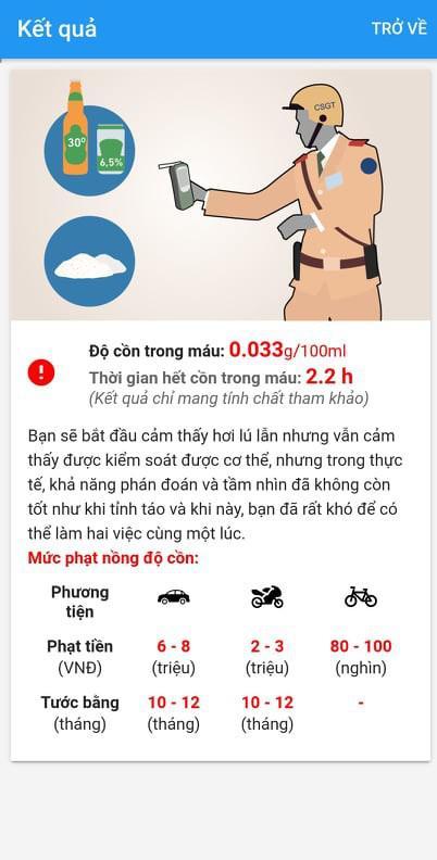 NÓNG: TP.HCM có ứng dụng tự đo nồng độ cồn và mức phạt cho lái xe - 1