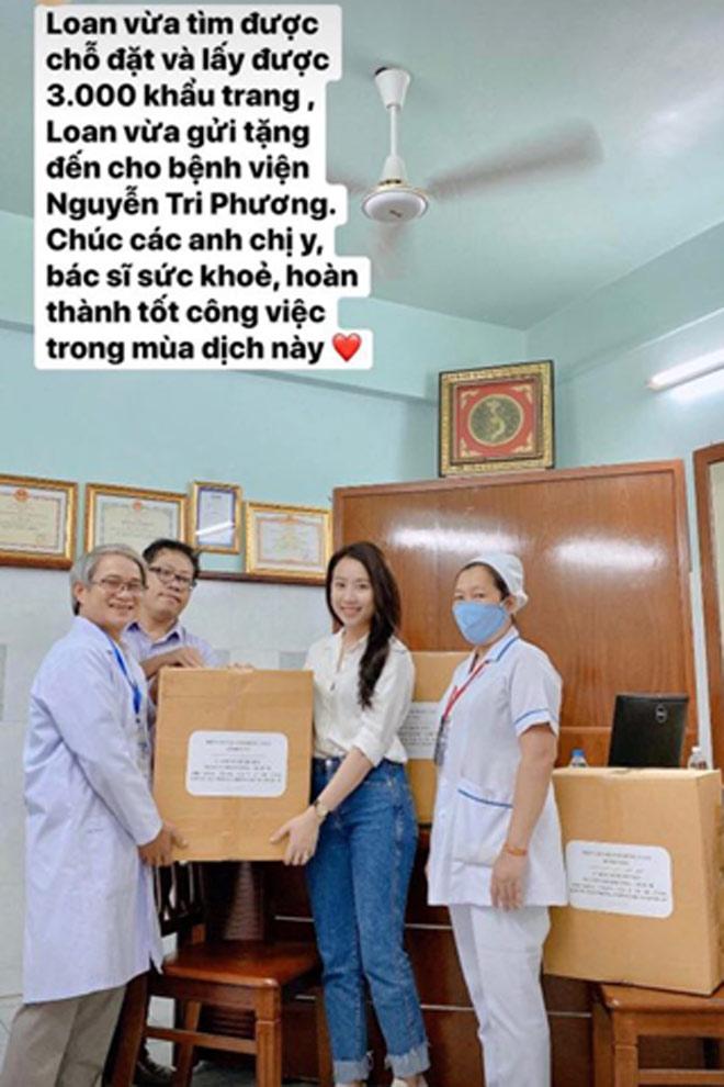 Bạn gái xinh đẹp của Tiến Linh gửi tặng 3000 khẩu trang chống dịch Covid-19 - 1