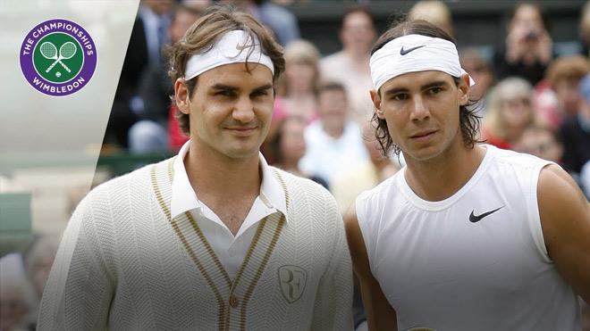 """Video tennis kinh điển Federer đấu Nadal: """"Nhà vua"""" giao bóng vượt trội Wimbledon 2007 - 1"""