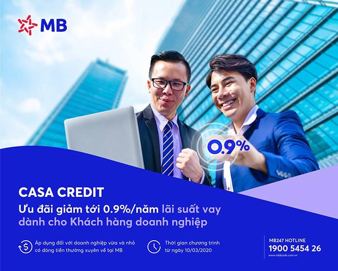 Casa Credit - chương trình ưu đãi lãi suất vay của MB dành cho khách hàng doanh nghiệp mùa dịch - 1