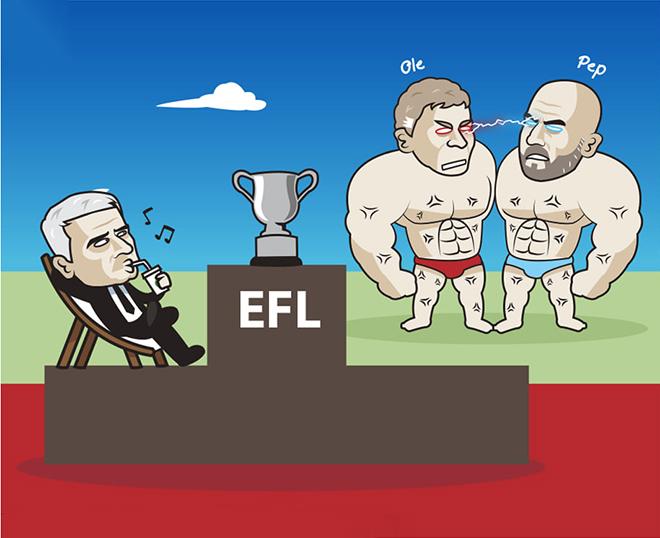 """Ảnh chế: Mourinho thảnh thơi chờ """"con mồi"""" ở chung kết Carabao Cup - 1"""