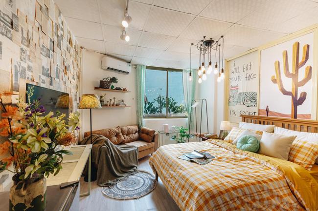 Không ai nghĩ căn phòng ngủ làm bao người mê mẩn này lại là phòng kho cũ, hỏng từ ngày trước.