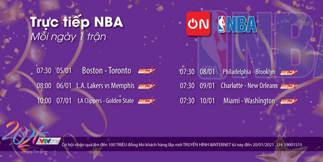 Lịch thi đấu thể thao hôm nay: Hấp dẫn bóng rổ NBA - 1
