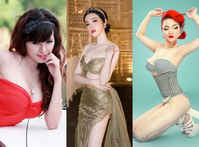 """Elly Trần, Thuỷ Top, Mai Thỏ từng là 3 """"hot girl siêu vòng 1"""" nổi tiếng của showbiz Việt. Giờ đây, cả 3 người đẹp đều đã có ngã rẽ, định hướng riêng cho cuộc đời của mình."""