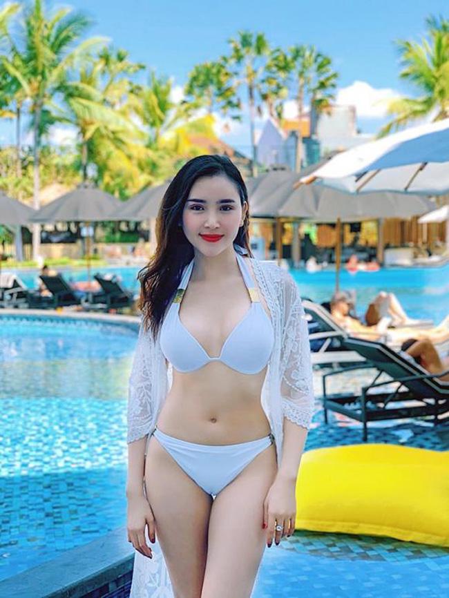 Lương Lê từng đăng quang Hoa khôi Thanh lịch Việt Nam năm 2017.
