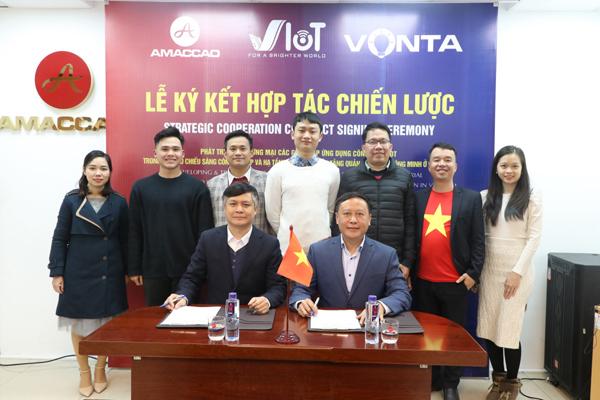 Tập đoàn AMACCAO ký kết hợp đồng hợp tác chiến lược với VIoT - 1