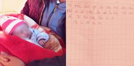 Bé gái sơ sinh bị bỏ rơi trong đêm rét buốt 10 độ C với dòng chữ mẹ có lỗi với con - 1