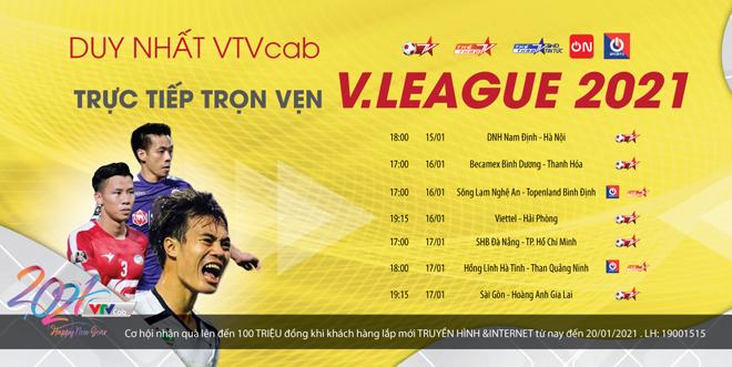 Lịch thi đấu giải bóng đá vô địch quốc gia V-League 2021 mới nhất - 1