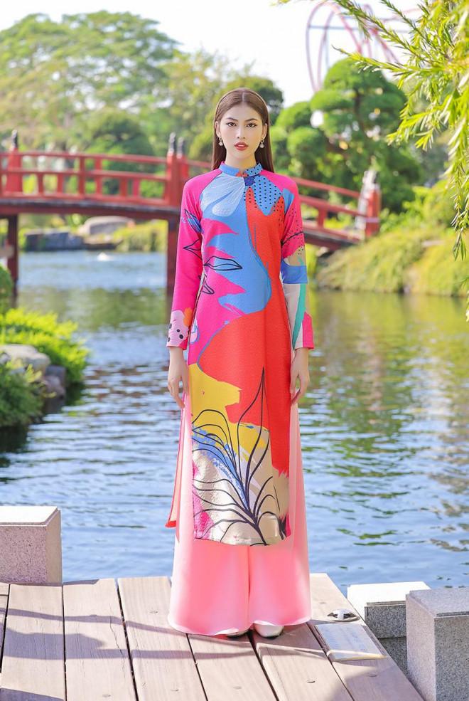 Á Hậu Phương Anh - Ngọc Thảo khoe trọn thần thái xinh đẹp, yêu kiều với áo dài Tết - 9