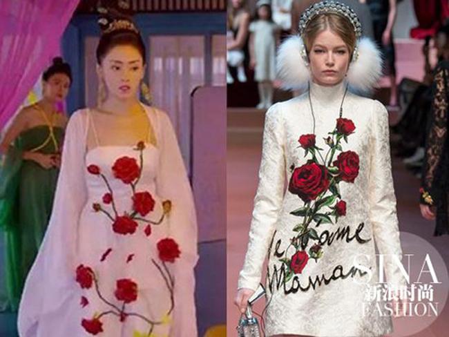 Khán giả nhận ngay ra việc trang phục cổ trang nhưng có nhiều điểm giống với mẫu hiện đại.