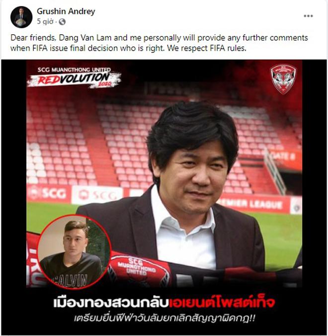 """Muangthong kiện Văn Lâm lên FIFA: Người đại diện """"phản pháo"""" cực gắt - 1"""