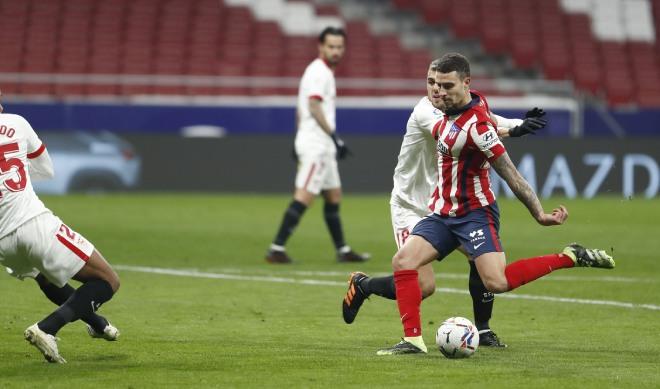 Video Atletico Madrid - Sevilla: Phản công sắc lẹm, 2 đòn choáng váng - 1
