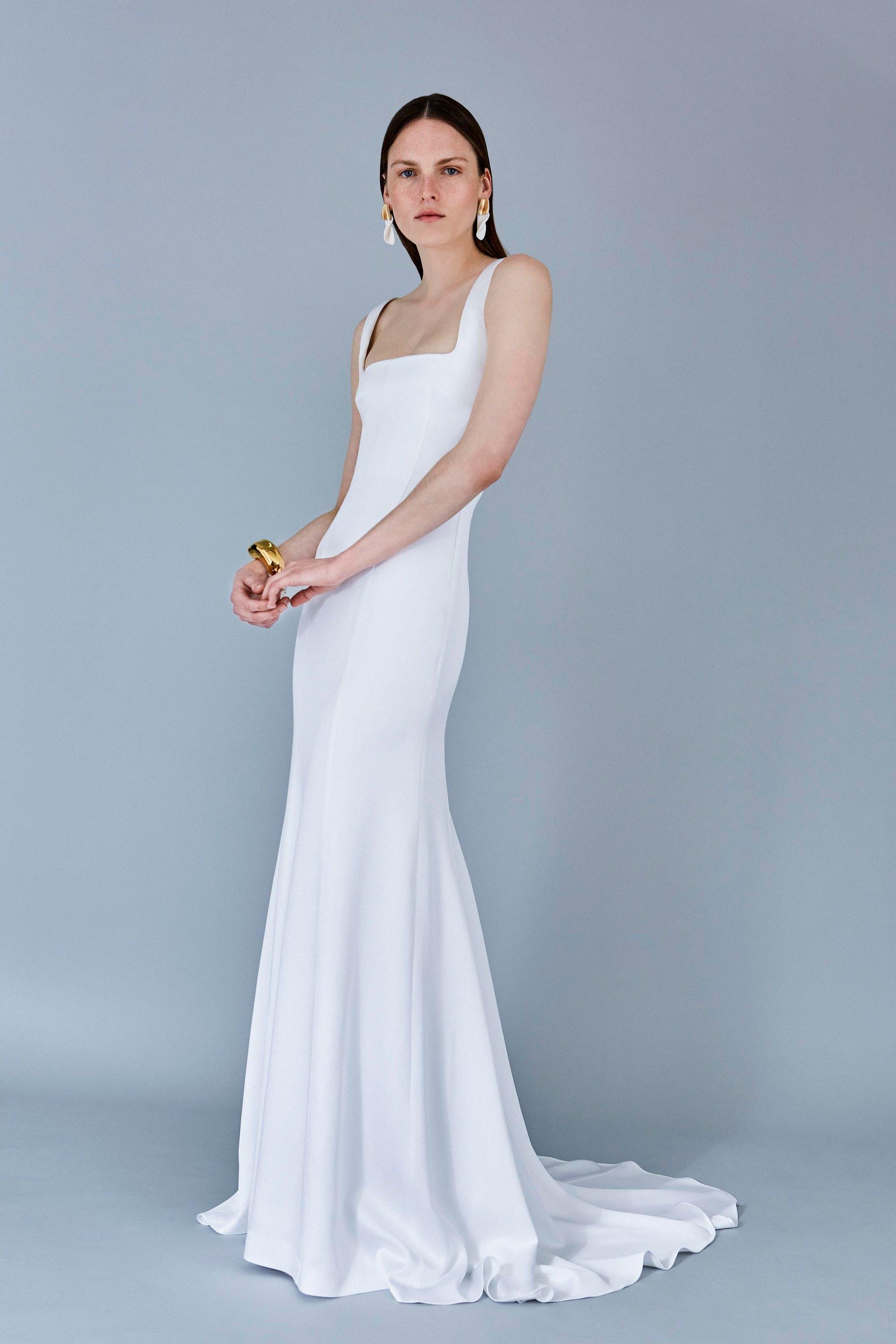 Chủ nghĩa tối giản sẽ thống trị phong cách váy cưới nhiều mùa tới - 3