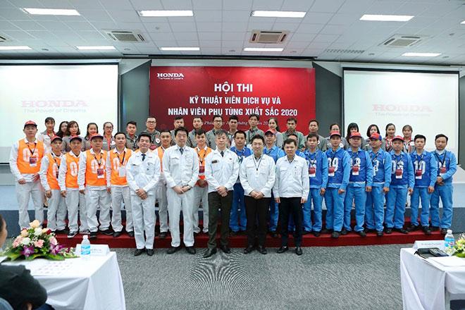 Honda Việt Nam tổ chức vòng chung kết Hội thi kỹ thuật viên dịch vụ và nhân viên phụ tùng xuất sắc 2020. - 1