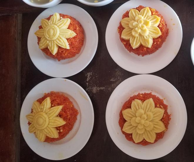 Vài mẹo nhỏ dể nấu xôi gấc mềm ngon, lên màu rực rỡ để cả năm may mắn - 1