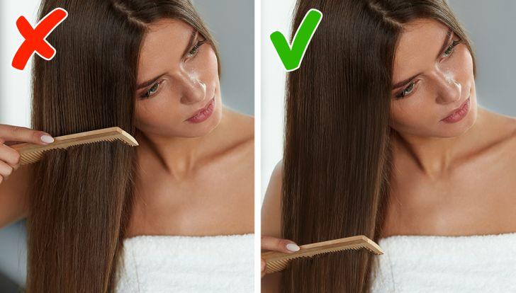 7 sai lầm kinh điển khi chải khiến tóc mãi xấu, làm sao để sửa? - 1