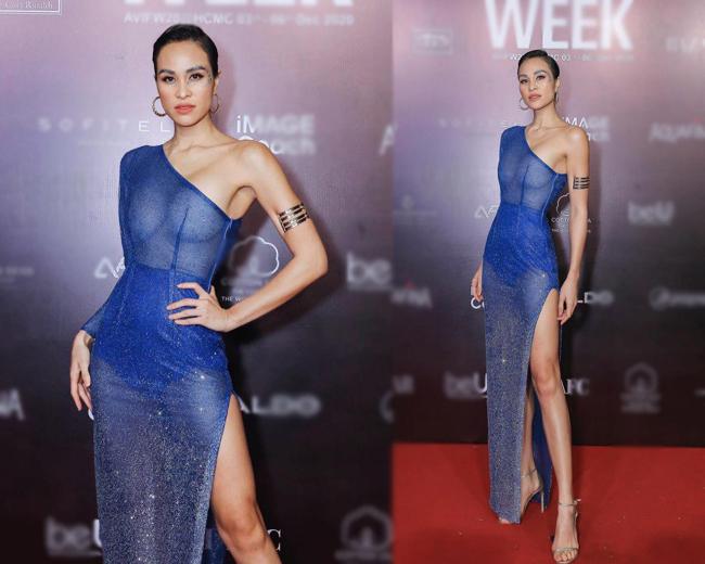 MC Phương Mai luôn là người đẹp gây chú ý vì gu thời trang táo bạo trên thảm đỏ.