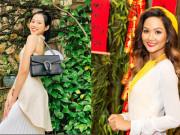 Hoa hậu Đỗ Thị Hà để mặt mộc vẫn đẹp rạng rỡ, H'hen Niê hoá 'nàng Xuân' với áo tứ thân