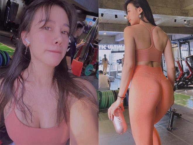 Cô nàng công sở Khánh Huyền hóa hot girl vòng ba 100cm nhờ tập Gym - 1