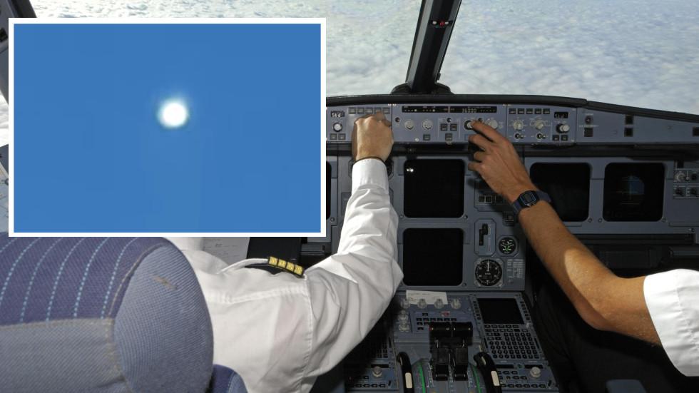 """Video: Phi công đối mặt """"UFO sáng rực rỡ"""" xuất hiện gần máy bay - 1"""