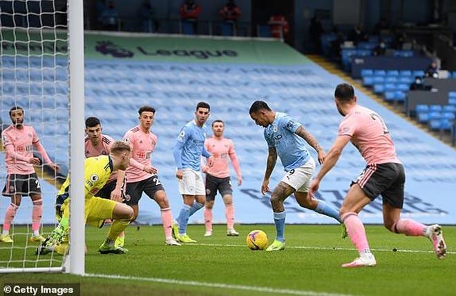 Video Man City - Sheffield United: Bàn thắng quan trọng, toan tính hoàn hảo - 1