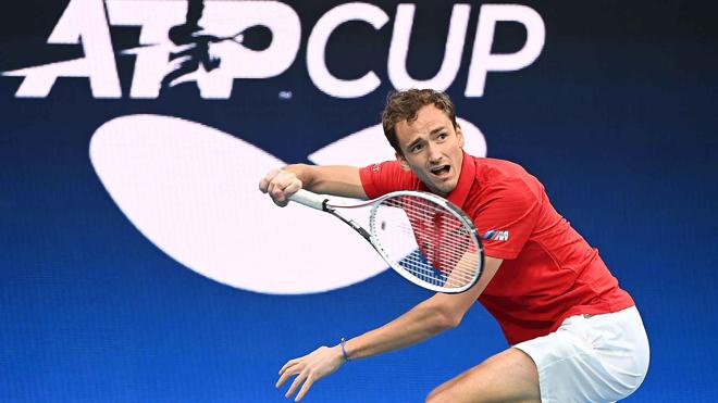 ATP Cup ngày 1: Medvedev thắng dễ