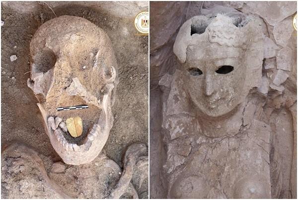 Xác ướp 2000 năm tuổi được khai quật, bất ngờ là chiếc lưỡi bằng vàng bí ẩn - 1