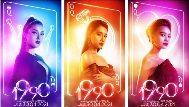 Giữa tháng 1.2021, phim 1990 công bố tạo hình của ba nữ chính là được mệnh danh là ngọc nữ của màn ảnh Việt: Diễm My, Nhã Phương và Ninh Dương Lan Ngọc. Phim thuộc thể loại hài - tình cảm xoay quanh số phận của nhóm bạn thân là ba cô gái với ba cá tính khác nhau. Đáng chú ý cả Diễm My, Nhã Phương và Lan Ngọc đều cùng sinh năm 1990 và là diễn viên được chú ý nhất màn ảnh hiện nay.