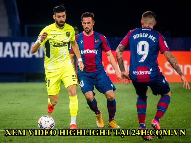 Video Levante - Atletico Madrid: Suarez im tiếng, bàn thắng may mắn