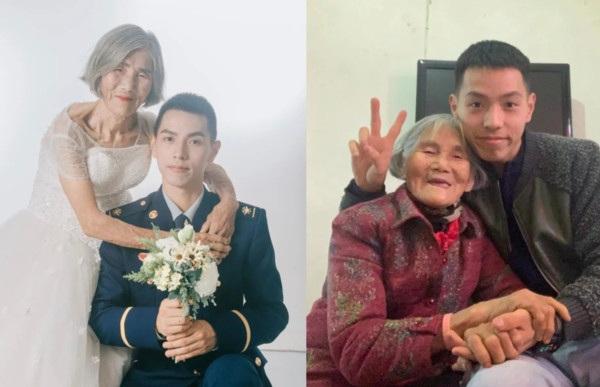 Chú rể 24 tuổi chụp ảnh cưới bên cô dâu 85 tuổi, câu chuyện phía sau đầy xúc động - 1