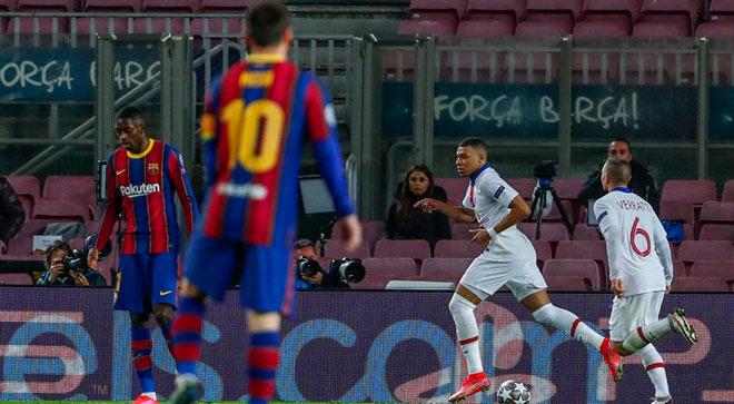 Mbappe giúp PSG vùi dập Barca: Tăng giá khủng khiếp khiến Real lo sốt vó - 1