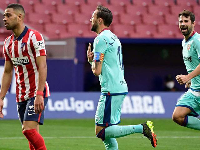 Video Atletico Madrid - Levante: Bàn thắng may mắn, kết quả bất ngờ