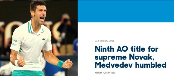 """""""Nhà vua"""" Djokovic thống trị Australian Open: Báo chí khen """"bất khả chiến bại"""" - 1"""