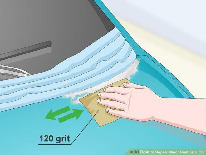 Cách sửa chữa vết rỉ sét nhỏ trên ô tô - 6