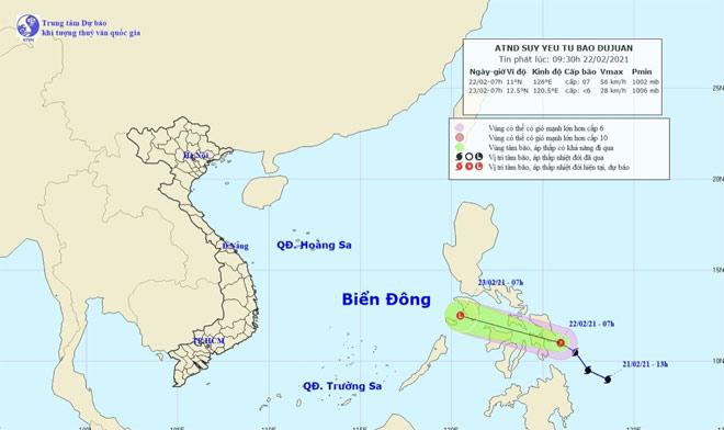 Thông tin mới nhất về bão Đỗ Quyên đang hoạt động gần Biển Đông - 1