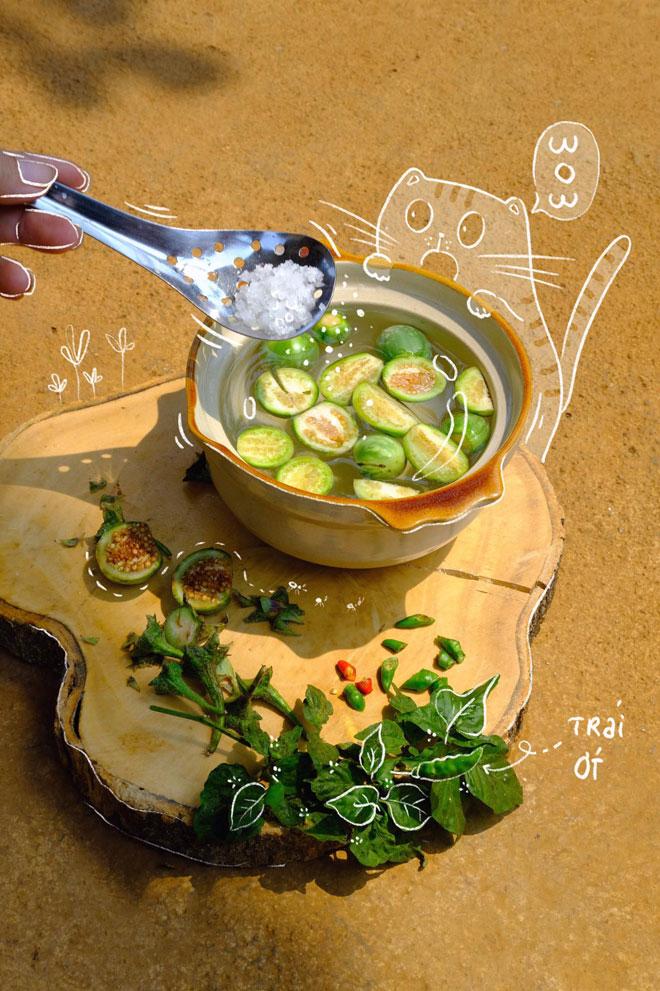 """Loại quả cực khó ăn mà nấu chung với đủ thứ rau rừng, thành món ăn hấp dẫn """"mê hoặc"""" - 3"""