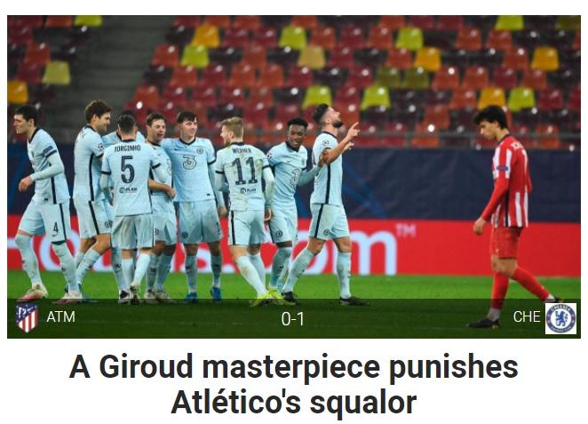 Báo Tây Ban Nha tung hô siêu phẩm của Giroud, chê Atletico không thương tiếc - 3